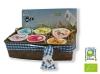 Cistella variada de iogurts i flams ecològics